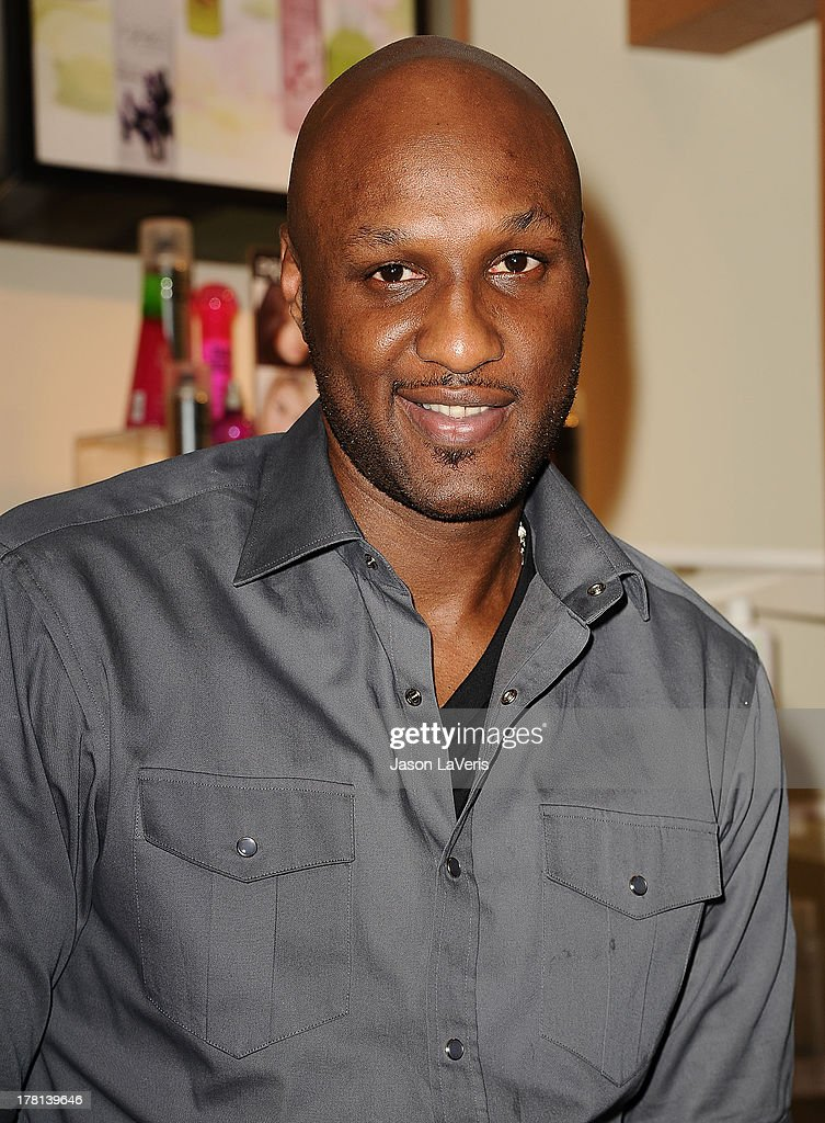 Lamar Odom makes a personal appearance for 'Unbreakable Bond' at Perfumania on June 7, 2012 in Orange, California.