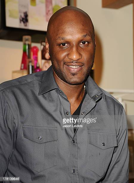 Lamar Odom makes a personal appearance for 'Unbreakable Bond' at Perfumania on June 7 2012 in Orange California