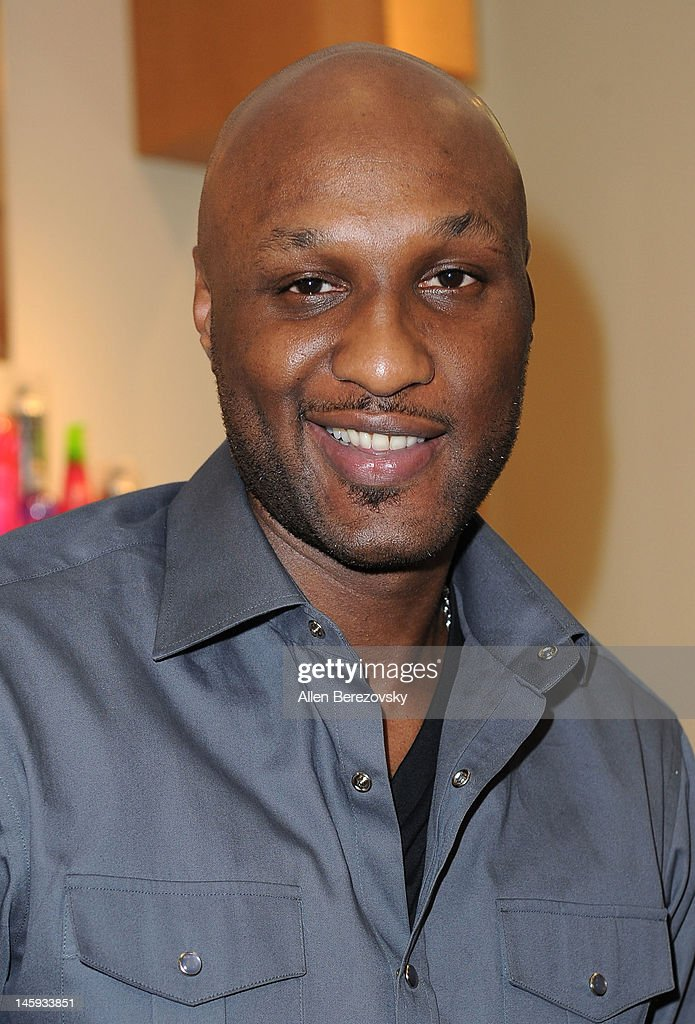 Lamar Odom makes a personal appearance to promote his and Khloe Kardashian Odom's 'Unbreakable Bond' fragrance at Perfumania on June 7, 2012 in Orange, California.