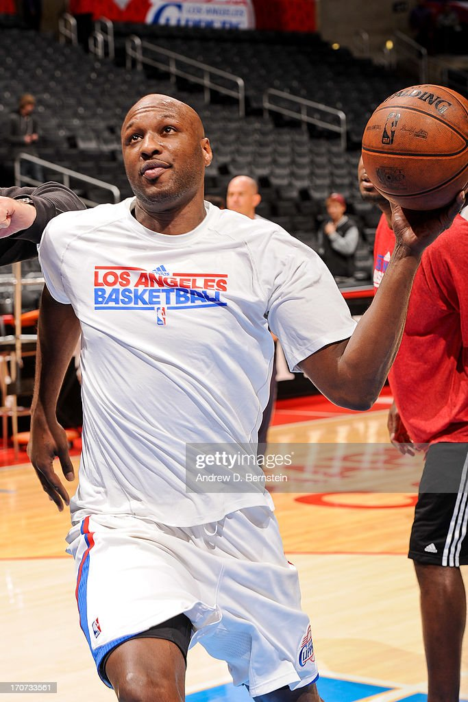 <a gi-track='captionPersonalityLinkClicked' href=/galleries/search?phrase=Lamar+Odom&family=editorial&specificpeople=201519 ng-click='$event.stopPropagation()'>Lamar Odom</a> #7 of the Los Angeles Clippers warms up before playing the Sacramento Kings at Staples Center on December 21, 2012 in Los Angeles, California.
