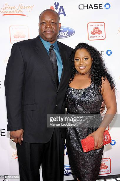 Lamar Sally and TV personality Sherri Shepherd attend the 2nd annual Steve Harvey Foundation Gala at Cipriani Wall Street on April 4 2011 in New York...