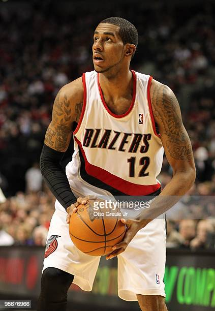 LaMarcus Aldridge of the Portland Trail Blazers in action against the Phoenix Suns during Game Four of the Western Conference Quarterfinals of the...