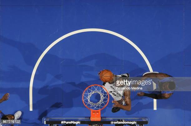 LaMarcus Aldridge of the San Antonio Spurs shoots the ball against the Orlando Magic on October 27 2017 at Amway Center in Orlando Florida NOTE TO...