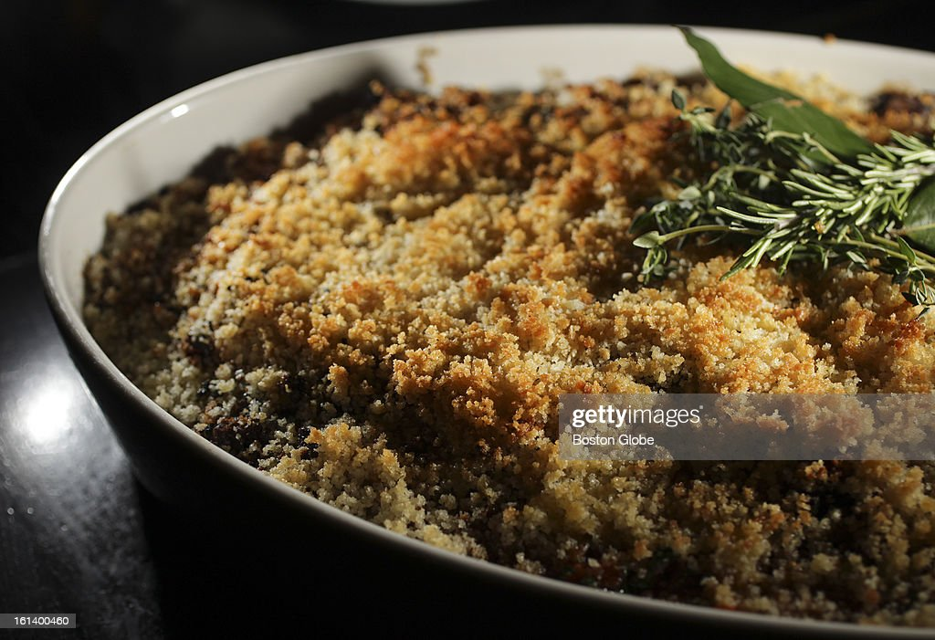 Lamb casoulet, a bean and lamb casserole topped with bread crumbs is one of Russell House Tavern chef Michael Scelfo's creations.
