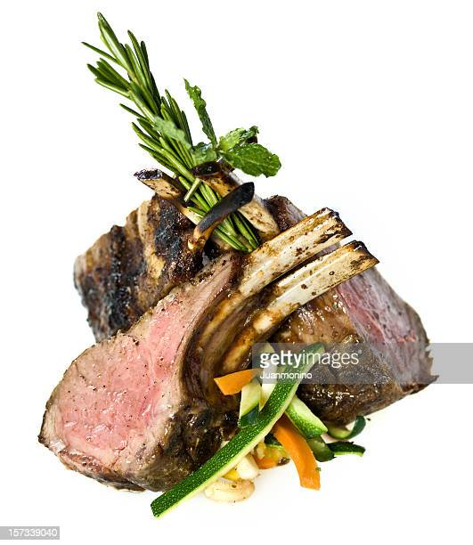 Lamb Chops and Vegetables