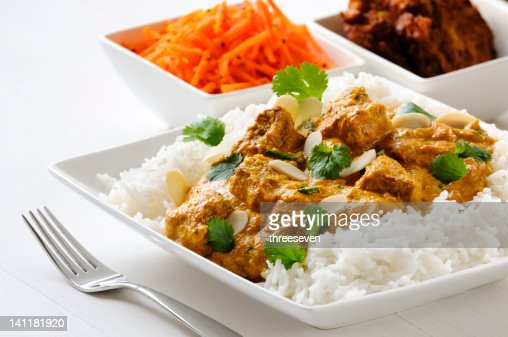 Lamb curry with rice : Stock Photo