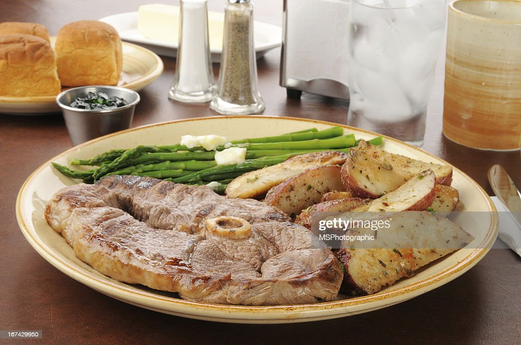 Lamb dinner : Stock Photo