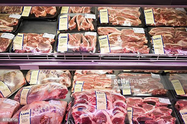 Lamb in supermarket