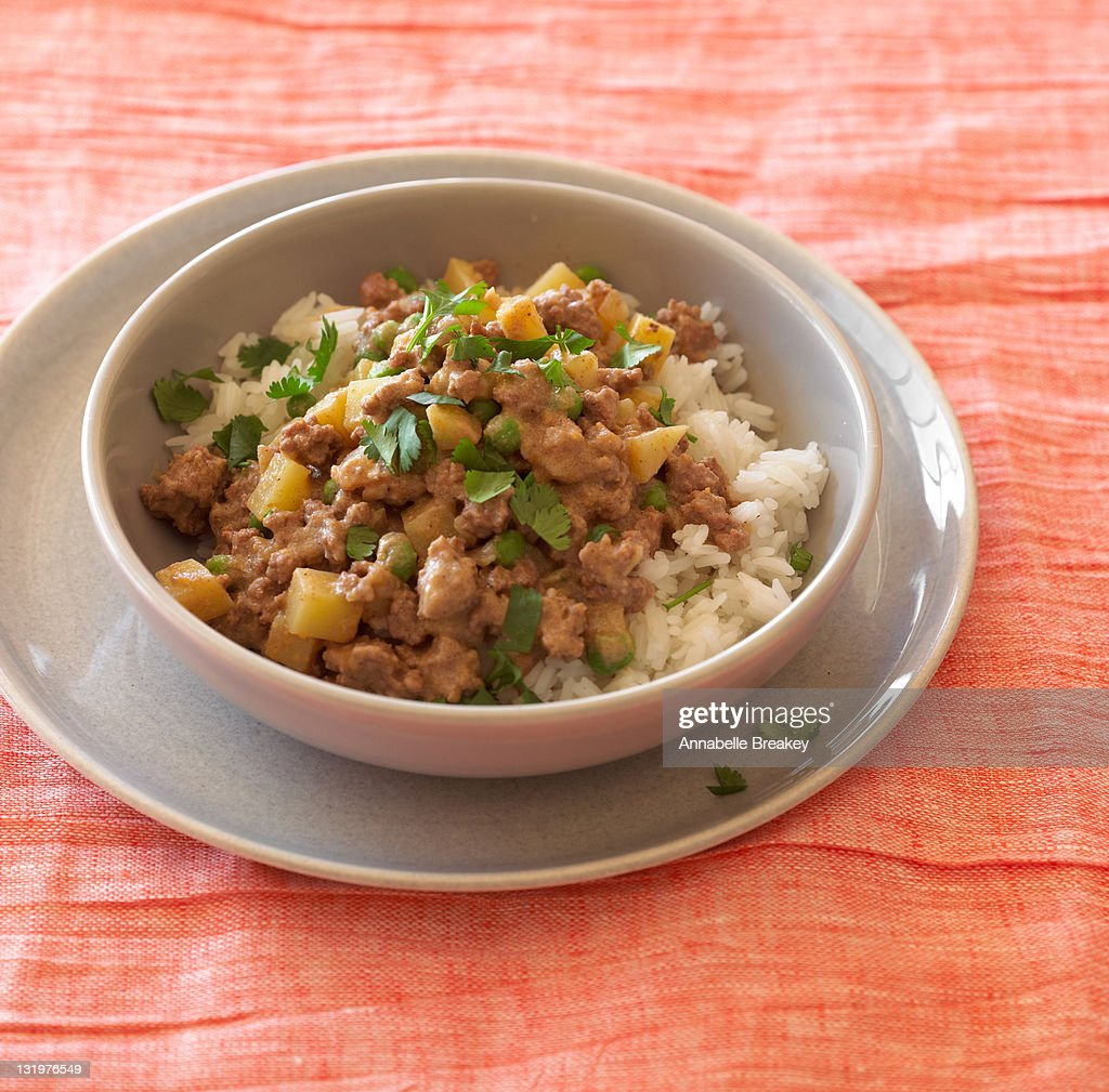 Lamb Keema With Potatoes And Peas Stock Photo | Getty Images