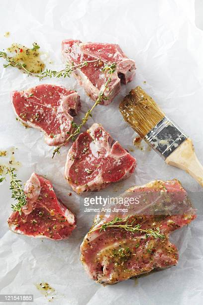 Lamb Loin Chops With Brush