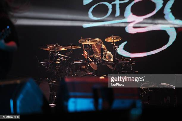 Lamb Of God drummer Chris Adler performs during Hammersonic 2015 in Jakarta Indonesia on March 9 2015 American groove metal band from Richmond...