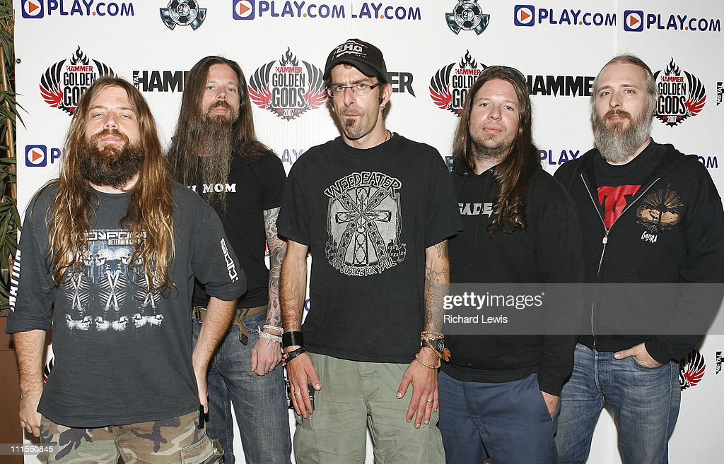 <a gi-track='captionPersonalityLinkClicked' href=/galleries/search?phrase=Lamb+of+God+-+Banda&family=editorial&specificpeople=207713 ng-click='$event.stopPropagation()'>Lamb of God</a> during Metal Hammer Golden Gods 2007 at Koko in London, United Kingdom.