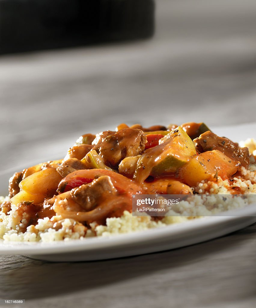 Lamb Stew with Couscous : Stock Photo