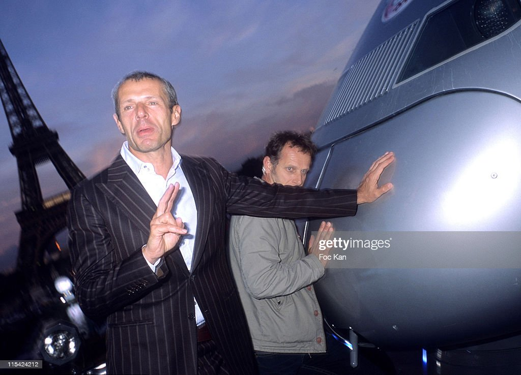 Lambert Wilson and Charles Berling during 25th Anniversary of the TGV at Trocadero in Paris France