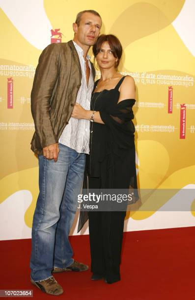 Lambert Wilson and Laura Morante during The 63rd International Venice Film Festival 'Private Fears in Public Places' Photocall at Palazzo del Casino...