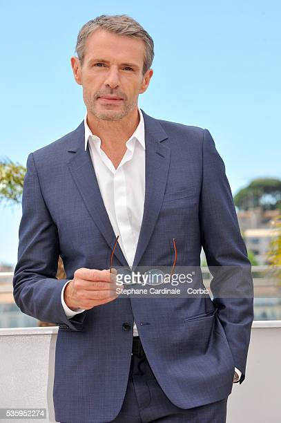 Lambert Wilson Master of Ceremonies photocall attends the Jury photocall at the 67th Cannes Film Festival