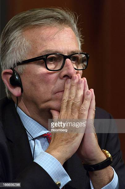 Lamberto Andreotti chief executive officer of BristolMyers Squibb Co attends a news conference in Tokyo Japan on Monday April 15 2013 BristolMyers...
