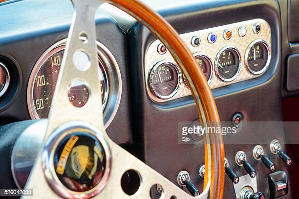 Lamborghini 350 GT classic sports car vintage interior