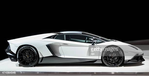 Lamborghini Aventador sports car side view