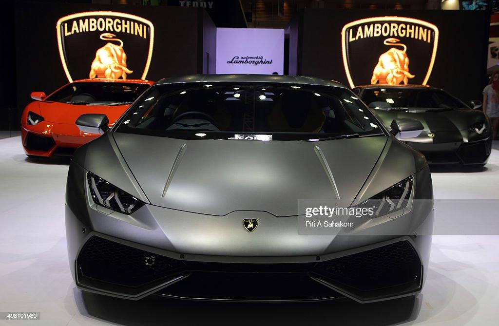 Lamborghini cars on displays at the 36th Bangkok International Motor Show in Bangkok The 36th Bangkok International Motor Show is open on 25 March...