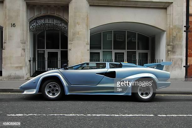 Lamborghini Countach 1980s Italian supercar side view
