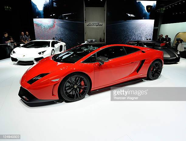 Lamborghini Gallardo is pictured during the press days at the IAA Frankfurt Auto Show on September 14 2011 in Frankfurt am Main Germany The IAA will...