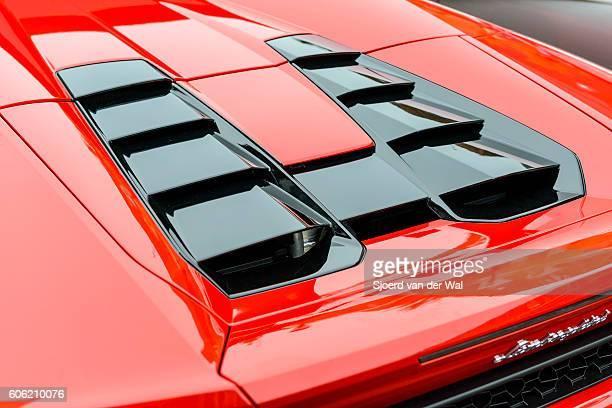 Lamborghini Huracan LP 610-4 Spyder sports car engine cover