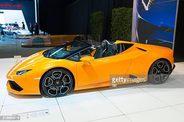 Lamborghini Huracan LP 610-4 Spyder sports car front view