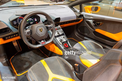 1 - Lamborghini Huracan Orange Interior
