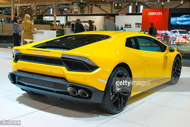 Lamborghini Huracan sports car rear view