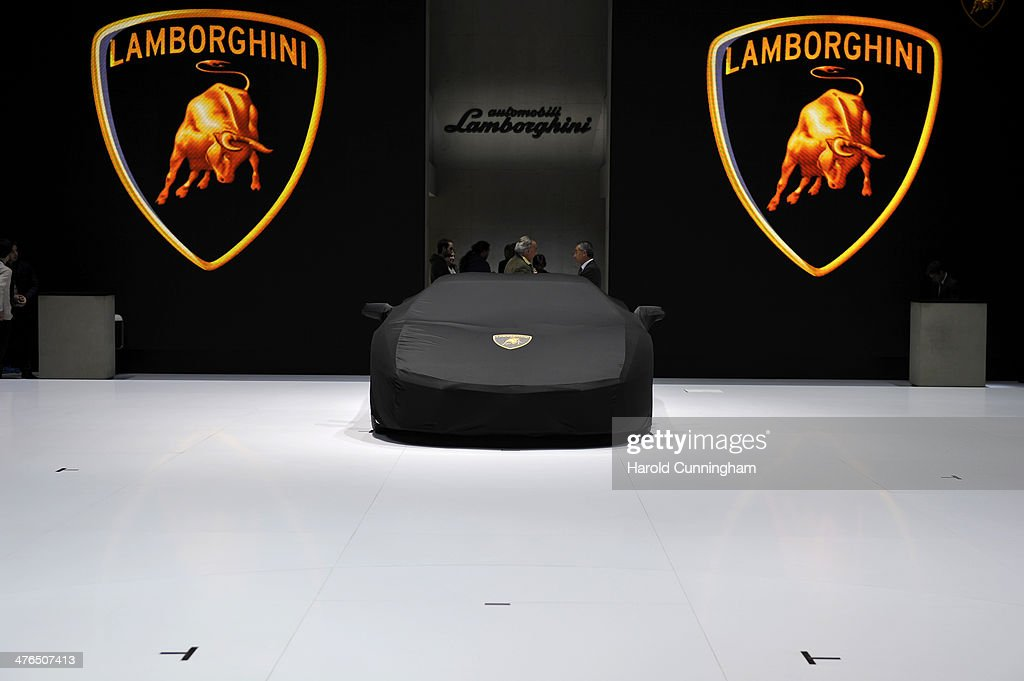 Lamborghini is prepared ahead of the opening day of the 84th International Motor Show which will showcase novelties of the car industry on March 3...
