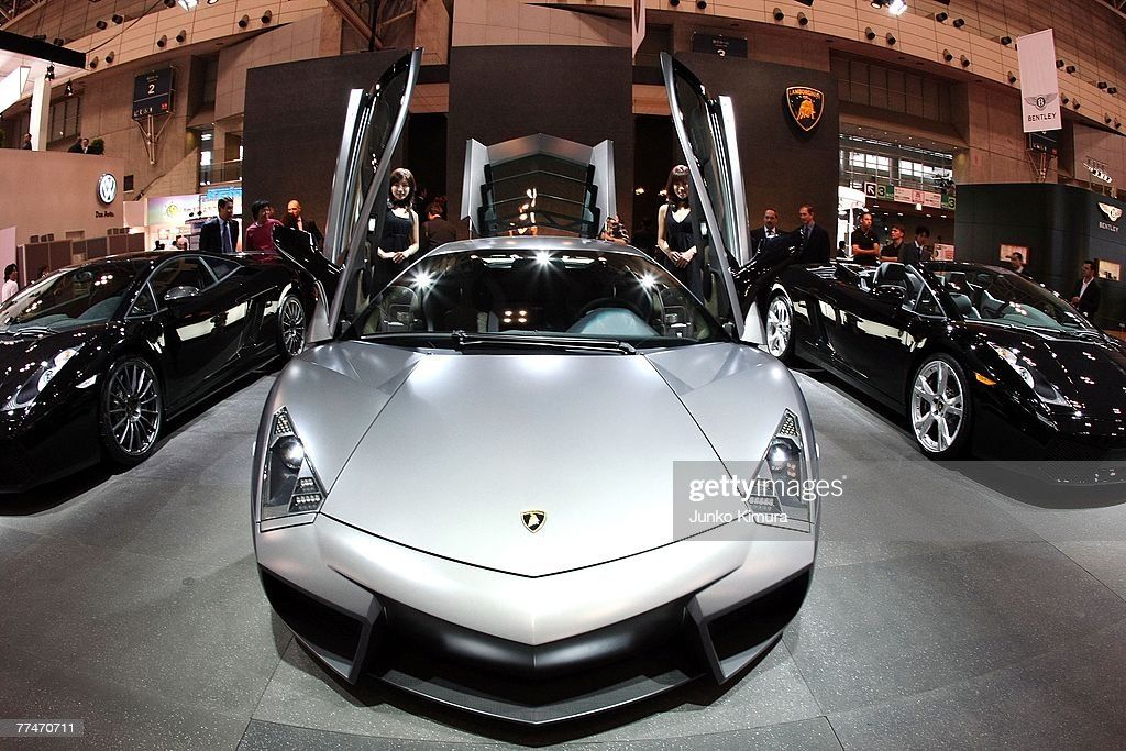 Lamborghini Reventon is on display during the press day of the 40th Tokyo Motor Show at Makuhari Messe on October 24 in Chiba Prefecture Japan The...