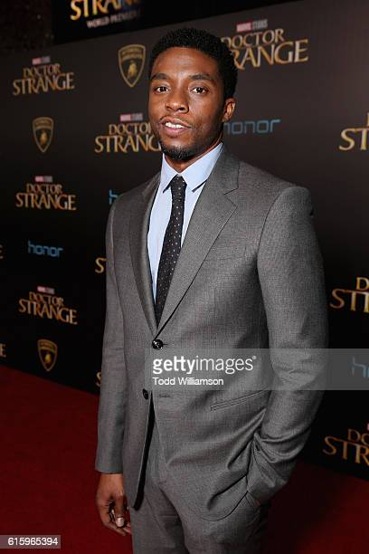 Lamborghini Stars on red carpet with actor Chadwick Boseman at Marvel Studios' Doctor Strange in US theaters Nov 4 at El Capitan Theatre on October...