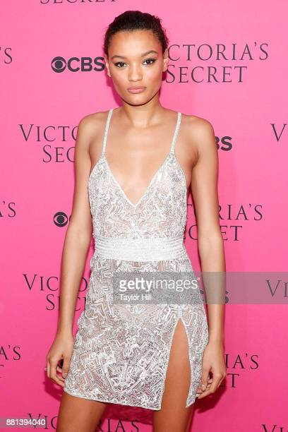 Lameka Fox attends the Victoria's Secret Viewing Party Pink Carpet celebrating the 2017 Victoria's Secret Fashion Show in Shanghai at Spring Studios...