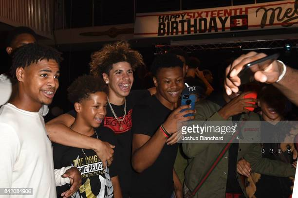 LaMelo Ball and guests attend Melo Ball's 16th Birthday on September 2 2017 in Chino California