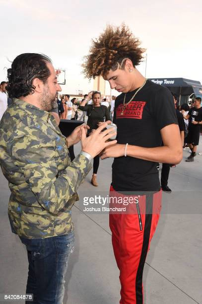 LaMelo Ball attends Melo Ball's 16th Birthday on September 2 2017 in Chino California
