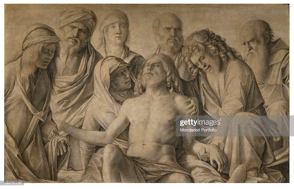 the lamentation over the dead christ Sandro botticelli, lamentation over the dead christ with saints buy oil painting  canvas, selling:the lamentation over the dead christ with saints is a painting.
