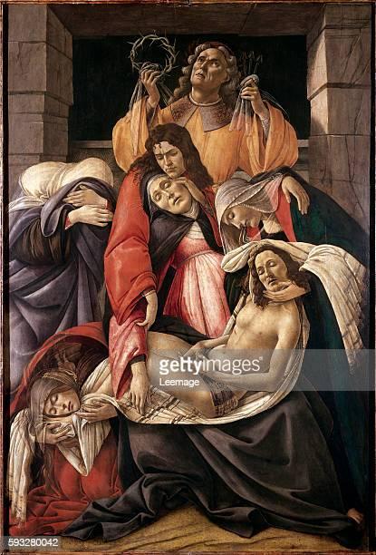 Lamentation over the Dead Christ by Sandro Filipepi aka Botticelli Tempera on wood 107x71 cm c1495 Museo Poldi Pezzoli Milan Italy