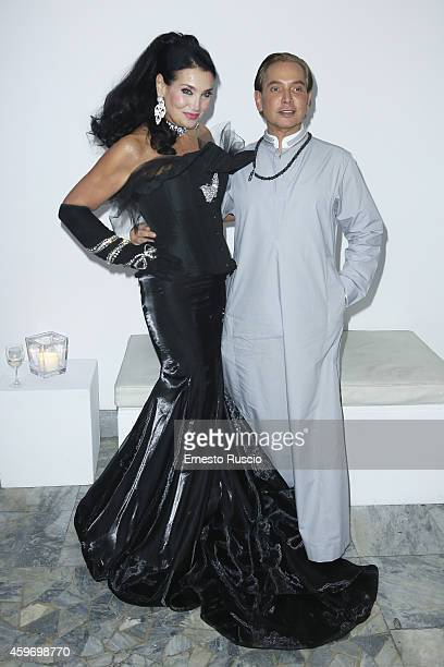 Lamia Khashoggi and Ahmed Ashmawi pose during the Children for Peace Benifit Gala at Spazio Novecento on November 28 2014 in Rome Italy