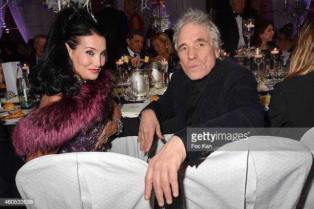 Lamia Khashoggi and Best 2014 awarded director Abel Ferrara attend 'The Best' Awards 2014 Ceremony At Salons Hoche on December 15 2014 in Paris France