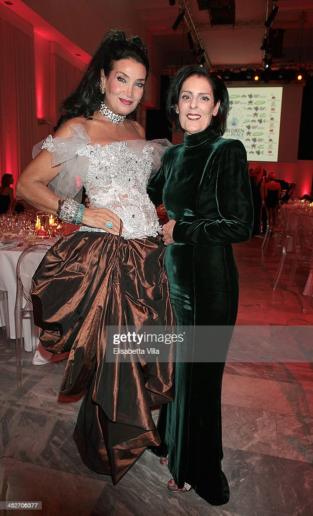 Lamia Khashoggi and Debbie Mace attend The Children For Peace Benefit Gala Ceremony at Spazio Novecento on November 30, 2013 in Rome, Italy.