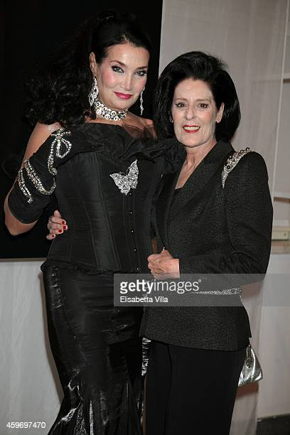 Lamia Khashoggi and Debra Mace attend the Children for Peace Benifit Gala at Spazio Novecento on November 28 2014 in Rome Italy