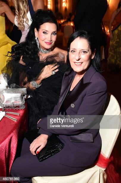 Lamia Khashoggi and Debra Mace attend the Eva Longoria Foundation Dinner Gala during the 60th Taormina Film Fest at Hotel San Domenico on June 17...