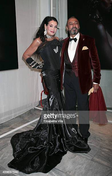 Lamia Khashoggi and Mohamed Aledrisi attend the Children for Peace Benifit Gala at Spazio Novecento on November 28 2014 in Rome Italy