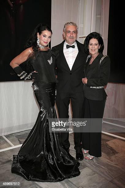 Lamia Khashoggi Antonio Grimaldi and Debra Mace attend the Children for Peace Benifit Gala at Spazio Novecento on November 28 2014 in Rome Italy