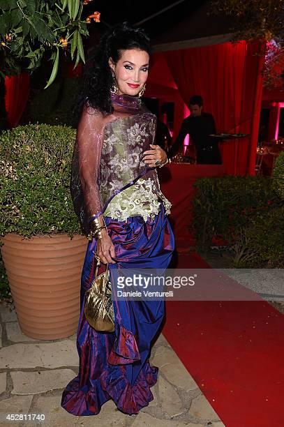 Lamia Khashoggi attends Monika Bacardi Summer Party 2014 St Tropez at Les Moulins de Ramatuelle on July 27 2014 in SaintTropez France