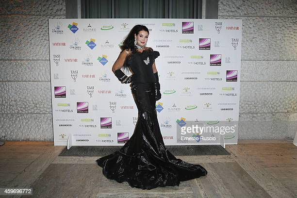 Lamia Khashoggi attends the Children for Peace Benifit Gala red carpet at Spazio Novecento on November 28 2014 in Rome Italy