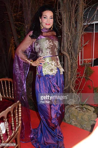 Lamia Khashoggi attends the Monika Bacardi Summer Party 2014 St Tropez at Les Moulins de Ramatuelle on July 27 2014 in Saint Tropez France