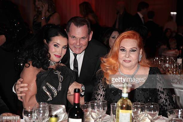 Lamia Khashoggi Bernd Beetz and Pucci Salameh attend the Children for Peace Benifit Gala at Spazio Novecento on November 28 2014 in Rome Italy