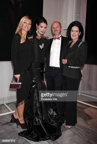 Lamia Khashoggi Debra Mace and guests attend the Children for Peace Benifit Gala at Spazio Novecento on November 28 2014 in Rome Italy